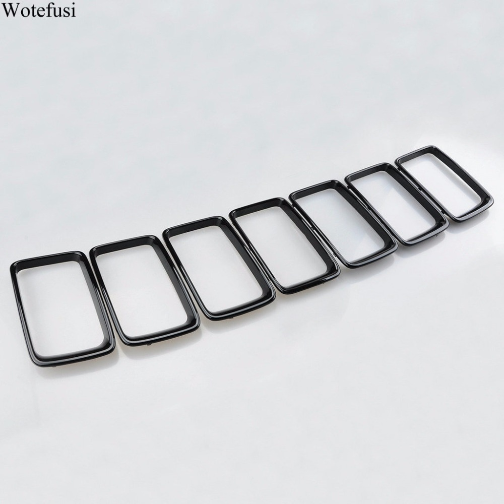 Wotefusi Black Grille Vent Trim Ring Insert Cover Kit For Jeep Grand Cherokee 2014 2015 2016 [QPA316] free shipping the freescale pressuer sensors mpxm2053gs 100% new 5pcs a lot