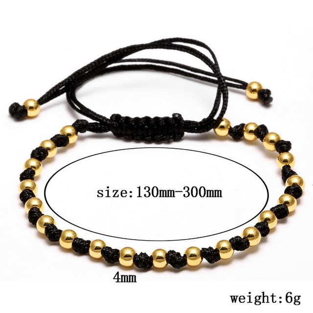 Black CZ Beads Ball Bracelet
