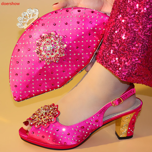 doershow  Italian Shoes with Matching Bags Italian Design Wedding African Nigeria Shoes and Bag Set for Parties for Wome!HXX1-44doershow  Italian Shoes with Matching Bags Italian Design Wedding African Nigeria Shoes and Bag Set for Parties for Wome!HXX1-44