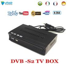 Vmade DVB-S2 HD Receptor TV Tuner AV2018 Satellite TV Receiver H.264 MPEG4 Support IPTV CS Youtube Bisskey DVB S2 Set Top Box цена