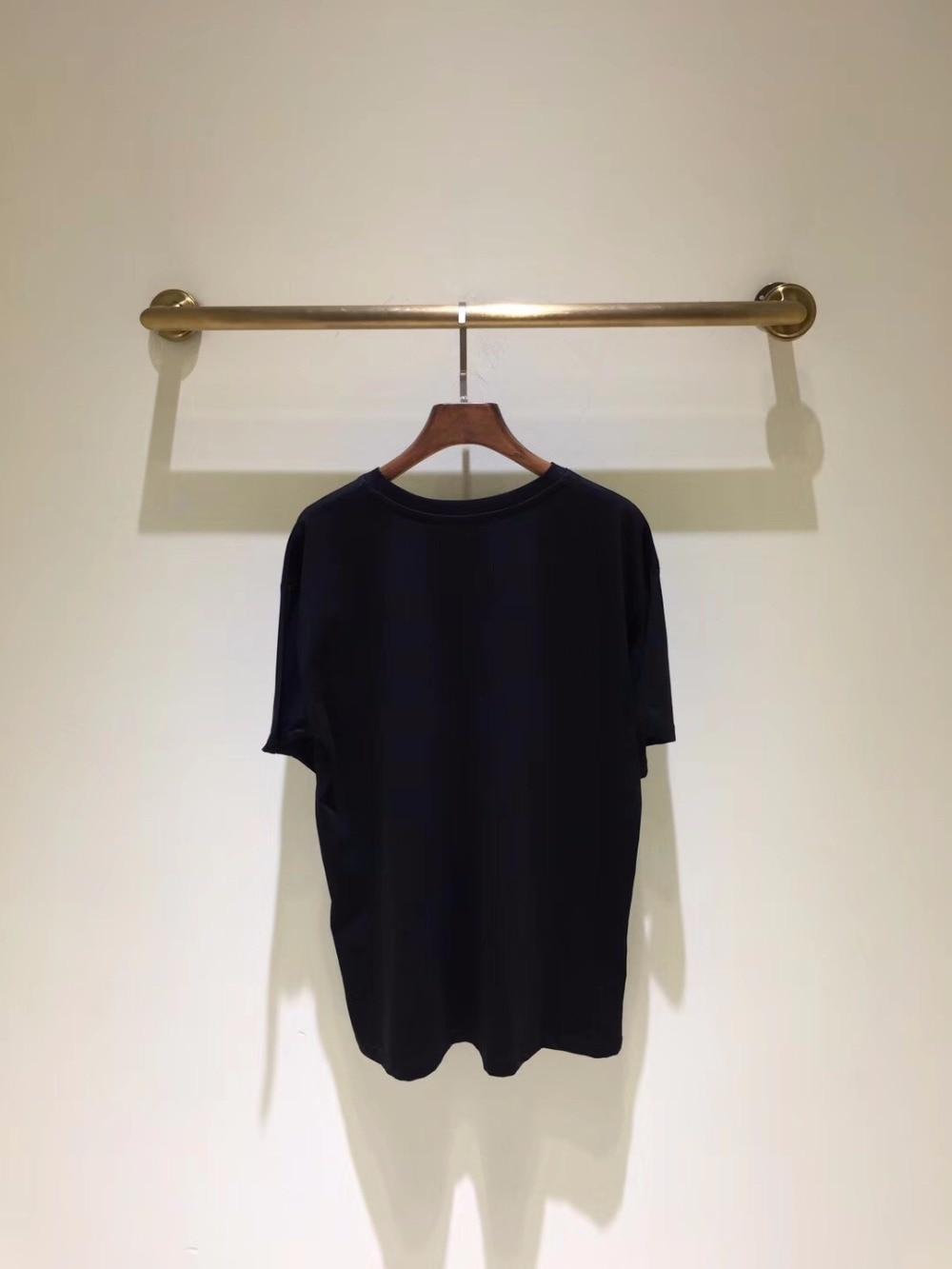 Luxe amp; Femmes Vêtements De Style Célèbre Pour 2019 Européenne Mode Hfa02416 Partie Design Femme Haut Piste T shirts 4qIwvaHT