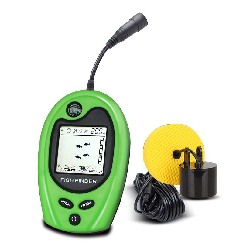 LUCKY Portable Fish Finder Sonar Sounder Alarm Fishfinder 100m Fiske - Fiske