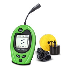 LUCKY Portable Fish Finder Sonar Sounder Alarm Fishfinder 100m Fishing Echo Sounders Echo sounder for fishing in Russian FF818