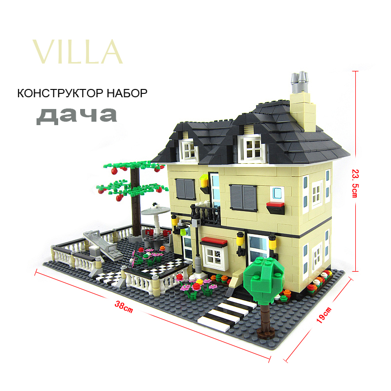 Pandadomik Villa City House Building Blocks 816pcs Toy Model Figure Bricks Friends Constructor Legoings Toys for Children Girls бинокль bushnell trophy xlt 10x28 камуфляж