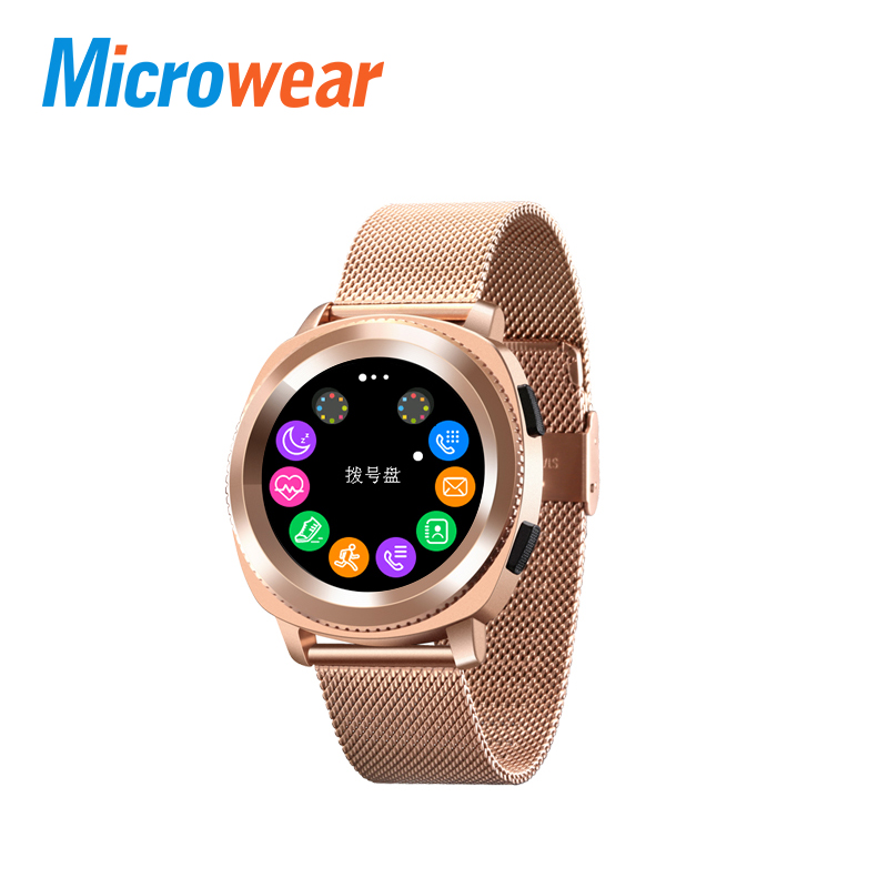 Microwear L2 Smart Watch MTK2502 Smartwatch Calling Heart Rate Sleep Monitor Sports Smart Watch With Steel Band pk xiaomi hot sale genuine leather band watch lemfo lme1 mtk2502 bluetooth smart watch with pedometer sleep monitor unisex watch