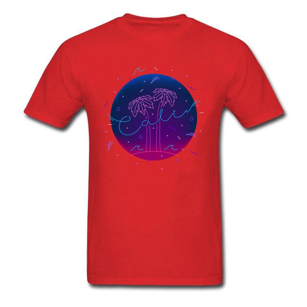 Casual C A L I Tees for Men Retro Summer O Neck 100% Cotton Short Sleeve T-shirts Custom ...