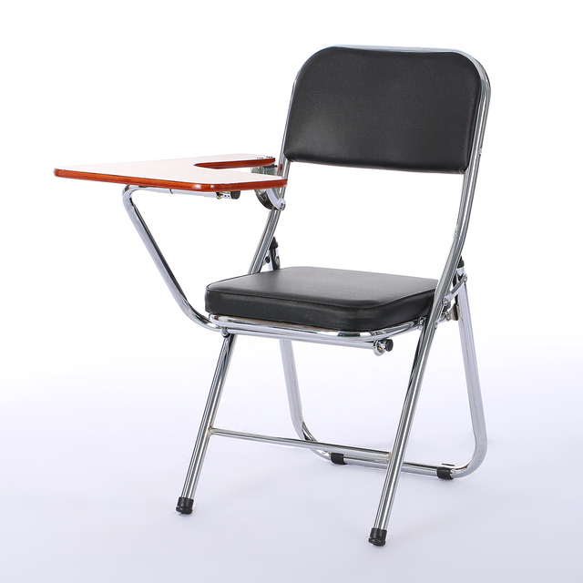 Modern Fashion Staff Training Chair With Writing Board Folding Office Portable Comfortable Student Learning Computer