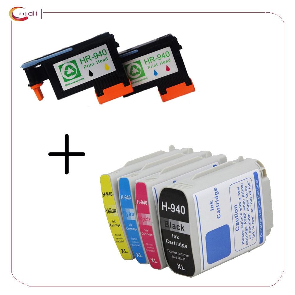 2 шт регенерации HP 940 печатающая головка для HP 940 печатающая головка C4901A + 4 шт. HP Officejet Pro 8000 8500 8500a 8500a чернильный картридж