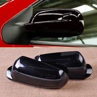 1Pair Right Left Black Wing Mirror Cover Case Cap For VW Golf MK4 Jetta Passat B5