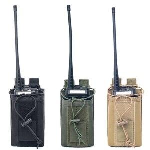 Image 1 - 1000D Nylon Outdoor Tactical Pouch Sport Anhänger Military Molle Radio Walkie Talkie Halter Tasche Jagd Magazin Beutel Tasche