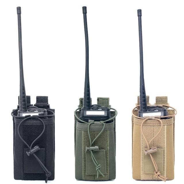 1000D нейлоновый Открытый тактический Чехол, спортивная подвеска, военный Молл, радио, держатель рации, сумка для охоты, журнальные карманы