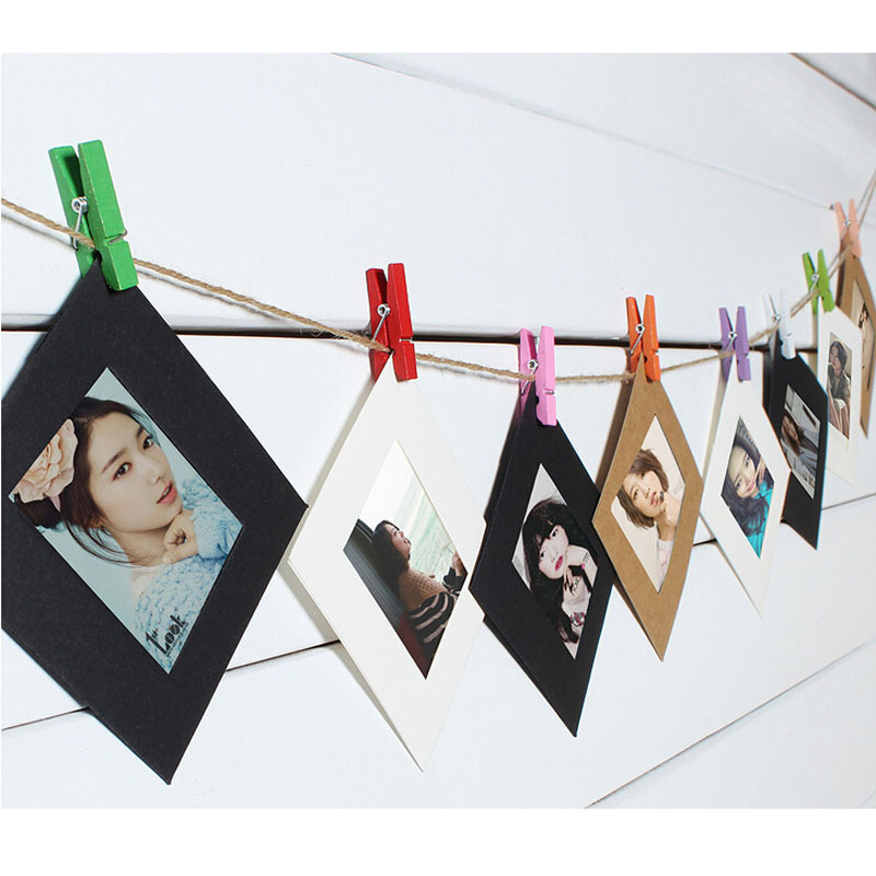 10x Paper Photo Frame Picture Hanging Album Frame Gallery