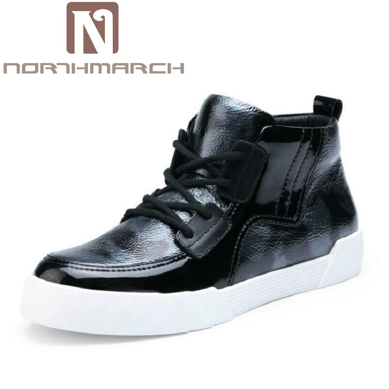 NORTHMARCH Men Winter Ankle Boots Autumn Fashion Leisure Shoes Military Boots Black Gray Men Boots High Top Lace Up Leather men fashion autumn and winter men s hooded leisure sweatshirt
