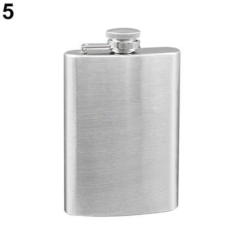 ポータブル 4 5 6 7 8 10 オンスステンレス鋼のヒップ酒ウイスキーアルコールフラスコキャップ 9Y1H
