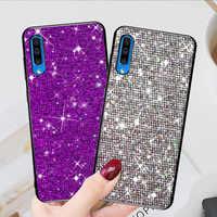 Für Samsung Galaxy A50 Fall Weiche Silikon Abdeckung Fällen sFor Samsung Galaxy A50 EINE 50 2019 A505 A505FZ Grid Glitter telefon tasche