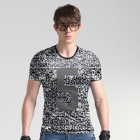 Flying Elephant Future 2017 Summer Speed Do Men's T Pity Round Neck Printing Half Sleeve Printing Jacket Tide Brand Short Sleeve
