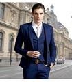 High Quality royal Blue Men Suits 4 Pieces Groom Tuxedos Wedding Suits for Men Groomsman Suits (Jacket+Pants+vest+tie)