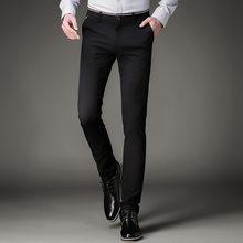 0891c9274b Jbersee para hombre vestido negro Pantalones formal Pantalones slim fit  boda hombres negro Pantalones de traje oficina de negoci.