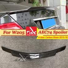 W205 Tail Spoiler Wing Carbon C74 Style Fits For Mercedes Benz C-Class C63 Look 4-Door C180 C200 C250 Trunk Spoiler Wing 2015-18 цена в Москве и Питере