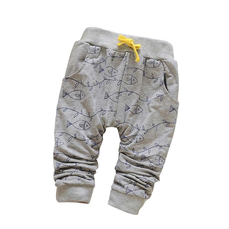 ФОТО new 2015 spring lovely fish fashion boy newborn pants baby boy pants brand cotton children
