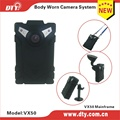 DTY VX50 easy operation TF card  LCD display one switch pocket car dvr for police