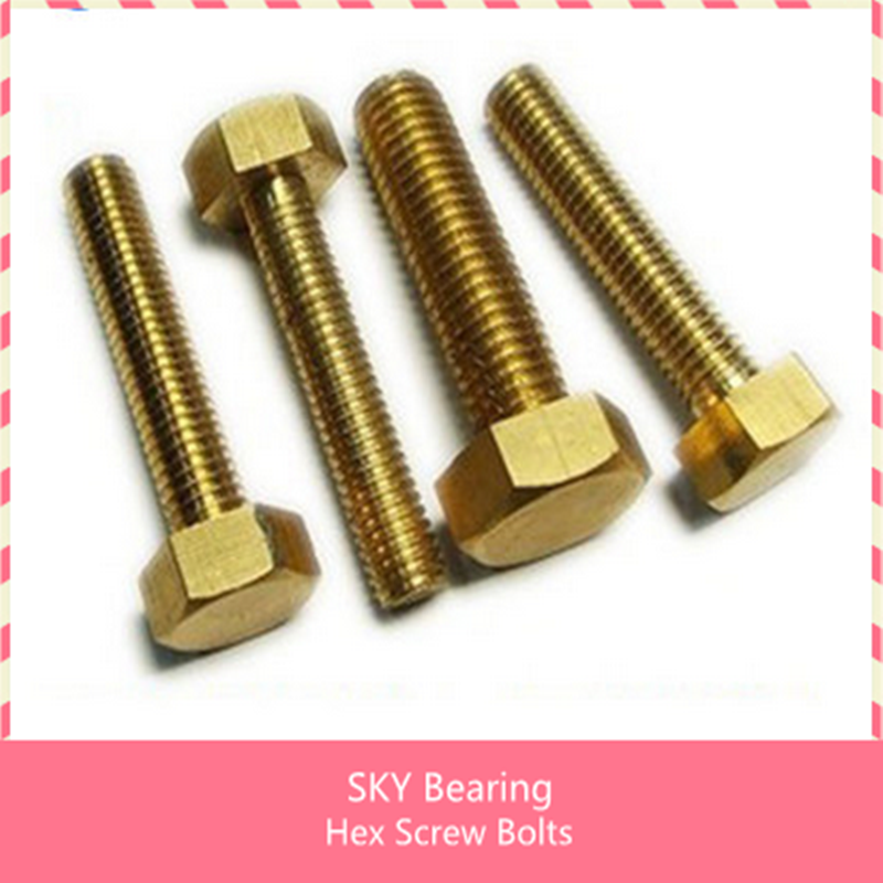 free shipping 50 pieces Metric Thread M4*25mm/M5*45mm/M4*30/M5*10/M5*40/M5*25/M4*12/M4*16mm Brass Outside Hex Screw Bolts 10 pieces metric thread m8 40mm brass outside hex screw bolts fasteners