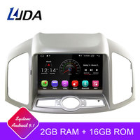 LJDA Android 9.1 Car DVD Player for Chevrolet Captiva 2006 2015 multimedia Autoaudio Radio GPS Navigation 2G Ram Quad Cores WIFI