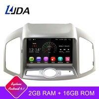 LJDA Android 9.1 Car DVD Player for Chevrolet Captiva 2006 2015 multimedia Autoaudio Radio GPS Navigation 2G Ram Quad Cores WIFI