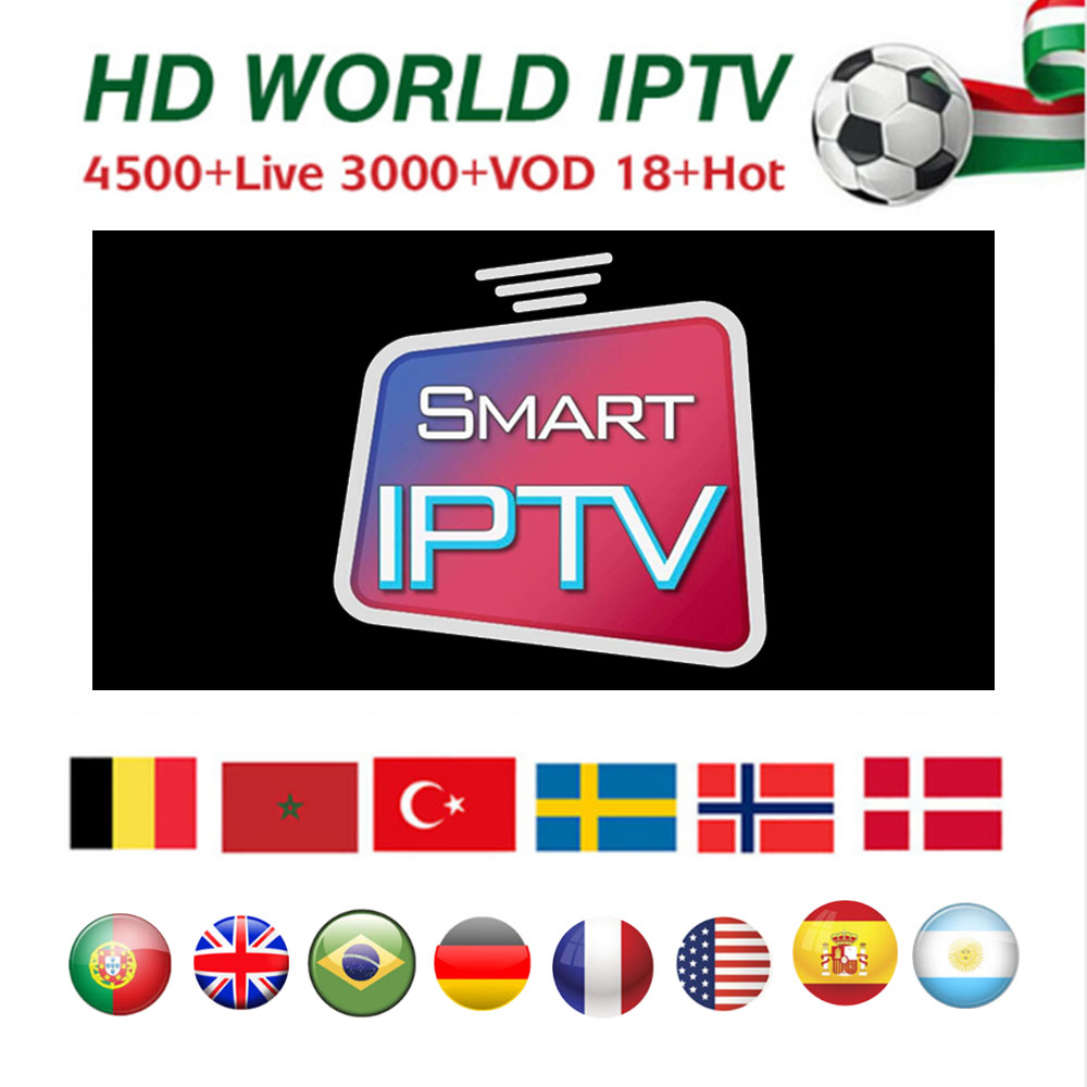 Europe IPTV M3U 1 year subscription 4500 channels UK Netherland Belgium  Sweden France Arabic Canada USA IPTV M3U for Smart tv bo