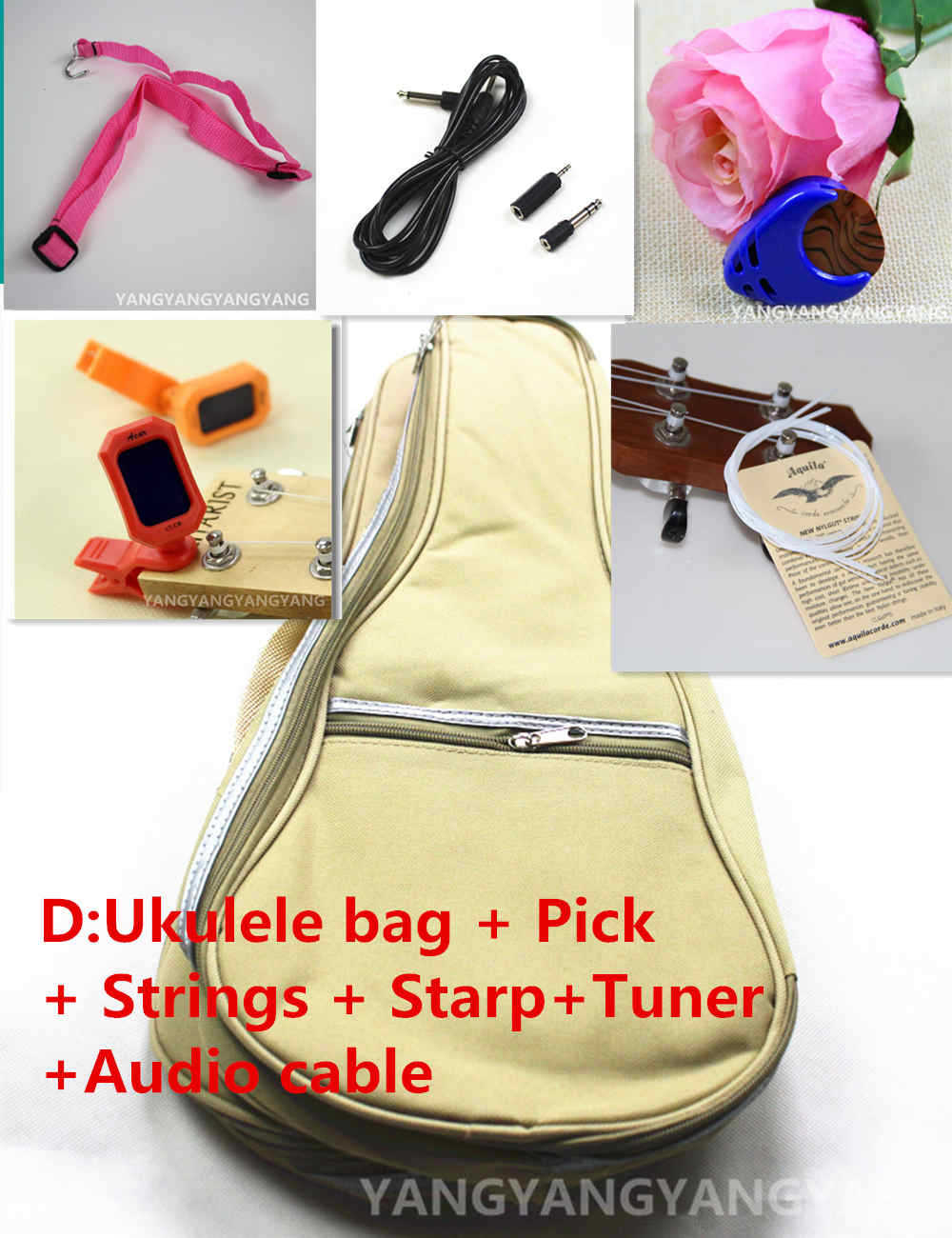 Soprano Concert Tenor Ukulele Bag Case Backpack 21 23 26 Inch Package Ukelele Pick  Strings starp Tuner Audio Cable Guitar Parts soprano concert tenor ukulele 21 23 26 inch hawaiian mini guitar 4 strings ukelele guitarra handcraft wood mahogany musical uke