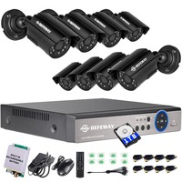 DEFEWAY 720P HD 1200TVL Outdoor Security Camera System 1080P HDMI CCTV Video Surveillance 8CH DVR Buit
