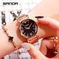 Женские наручные часы  стильный Топ бренд  часы из нержавеющей стали  распродажа  2019  фиолетовые  синие  черные  розовые  золотые часы  беспла...