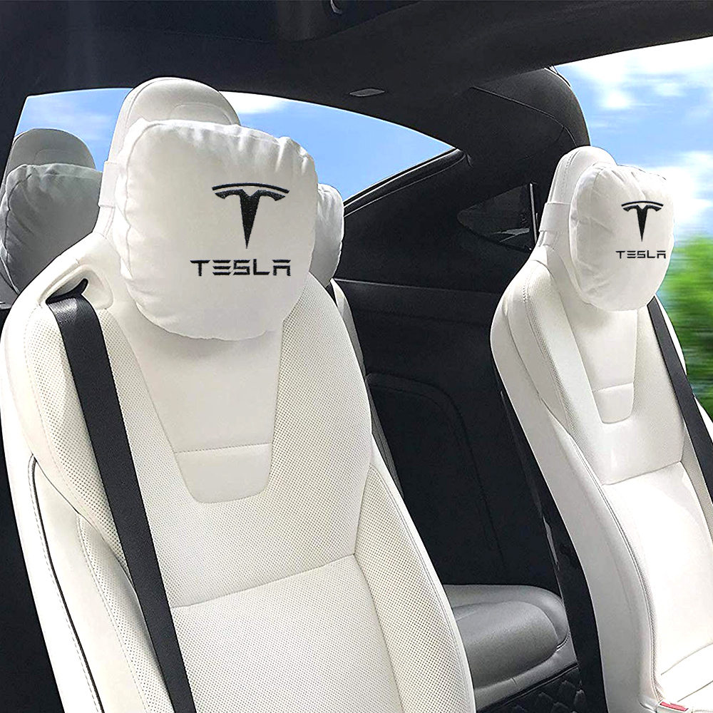 2019 New Car Seat Headrest Breathable Neck Pillow Head Support Neck Travel Pillow Compatible For Tesla Model S Model X Model 3
