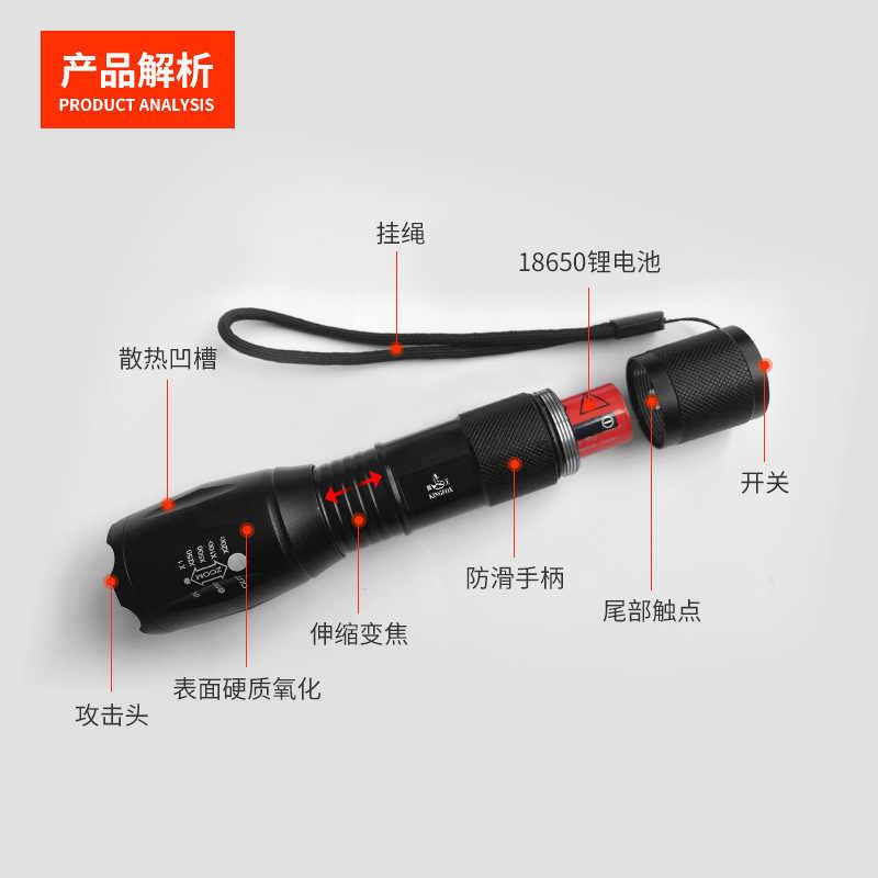 9000LM XM-L2 T6 Güçlü su geçirmez led El Feneri Torch Taşınabilir Kamp Lamba Işıkları Lanternas Kendini Savunma Taktik El Feneri