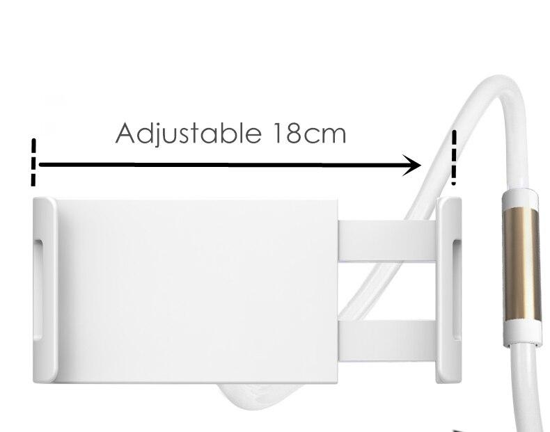 Desktop Phone Tablet Stands 130cm Tablet Holder Adjustable Mount For Tablet 4 0 To 10 6 inch Bed Tablet PC Stand Metal Support in Tablet Stands from Computer Office