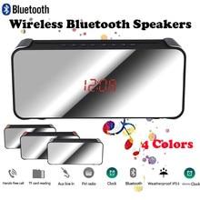 Беспроводной Bluetooth динамик тяжелый бас динамик s музыкальный плеер Поддержка светодиодный дисплей времени будильник TF FM радио температура Z528