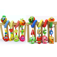 Baby Early Cognitive Music Bed Bell Toy Fruit Around Rattle Newborn Hanging