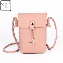 XZP Women Bag Women's Handbags Female Purse Leather Small Travel Bags Ladies' Vintage Deer Pendant Cross body Shoulder Handbag