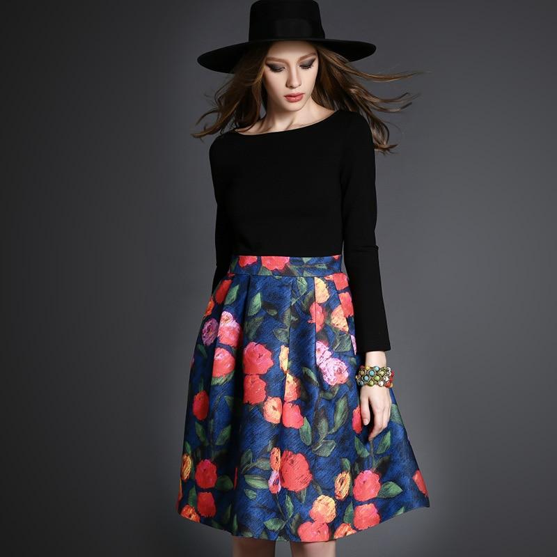 Fasicat сладкий цветочный линия платье полный рукавом о шеи свадебные платья femininos длиной до колен платье весны T2733