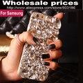Bela luxo big diamante rhinestone crystal case capa para samsung galaxy a3 A5 A7 A8 A9 2015 2016 2017 E5 E7 On5 On7 2016