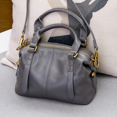 Suede Genuine Leather Shoulder Bag For Women Leisure Small Boston Handbag Nubuck Bowler Crossbody Bag crossbody bowler bag