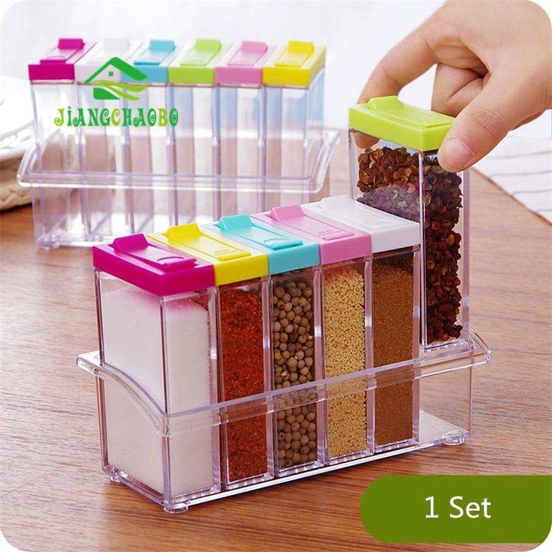 6 Stks / set Transparant Rusland Smaak Spice Jar Kruiden Jar Keuken - Home opslag en organisatie