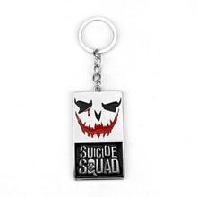 DC Marvel Escuadrón Suicida El Bromista Clásico Logo Llavero Puddin Freaky Tareas Carta Llavero Película Souvenir Titular de La Clave