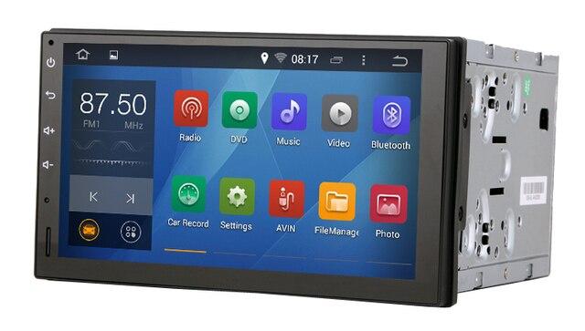 Чистый андроид 4.4.4 универсальный автомобиль два-дин консоли 2 din с емкостным экраном 1.6 г процессор двухъядерный 1 г RAM радио