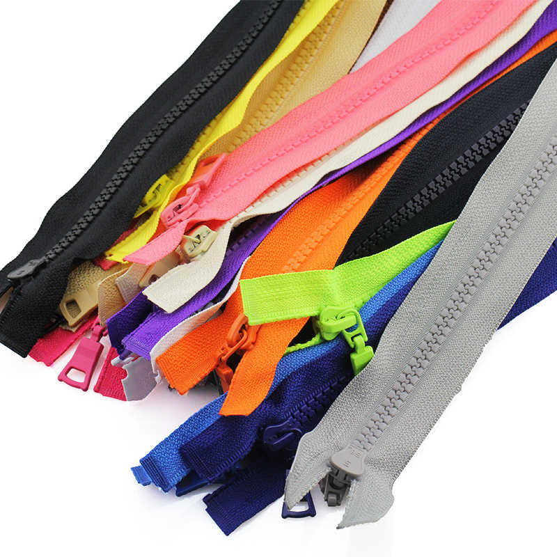 5 # разъемная застежка-молния из 3 предметов 30/40/55/60/70/80/90 см открытого типа Автоматическая блокировка эко Красочные молнии из пластичного полимера для одежды