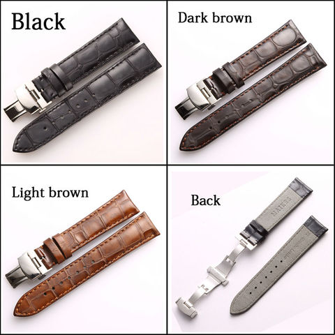 MAIKES Brown Genuine Leather Watch band 18mm 20mm  22mm Women&Men Vintage Style casual Calf Leather Watch Strap For IWC Lahore