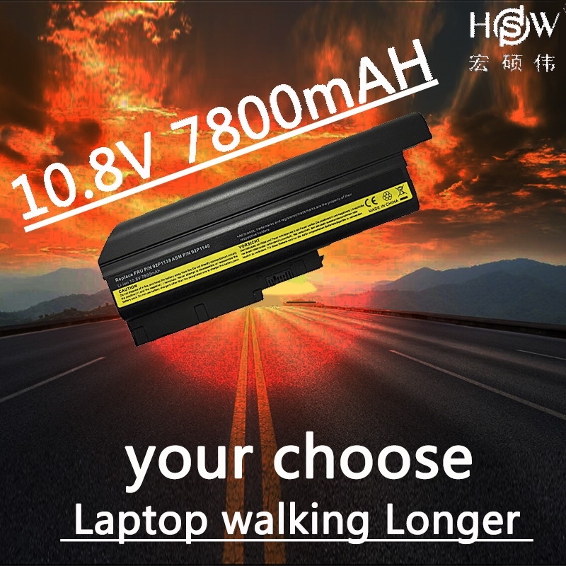 HSW 7800mAh LAPTOP Battery for IBM Lenovo ThinkPad R60 R60e T60 T60p T61p R500 92P1131,92P1133,92P1134,92P1137,92P113  bateria