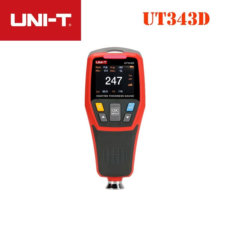 UNI-T UT343D Coating Thickness Gauge iron matrix (FE/NFE) measurement composite USB data transmission Tester Range 0 To 1250umUNI-T UT343D Coating Thickness Gauge iron matrix (FE/NFE) measurement composite USB data transmission Tester Range 0 To 1250um