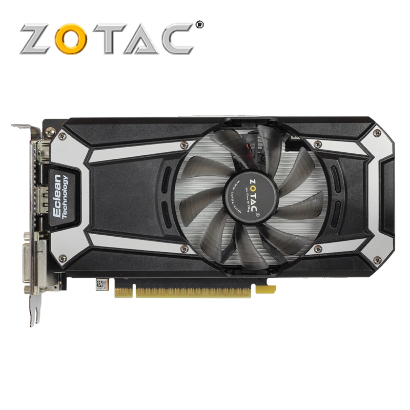 ZOTAC Video Card Original GTX750 1GB 128Bit GDDR5 Graphics Cards GPU Map for NVIDIA GeForce GTX 750 Thunder Edition 1GD5 PCI-E new geforce 9800gt 1gb 128bit ddr3 video card hdmi pci e16x graphics card free shipping