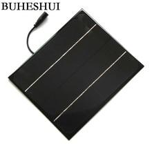BUHESHUI 6W 12V Mini Solar Panel+5521DC Monocrystalline Solar Cells DIY Solar Module For Solar Power System Education Kits
